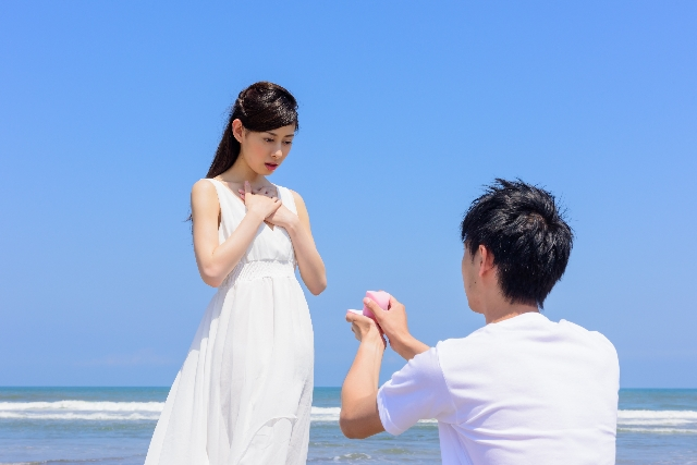 プロポーズの場所|海辺