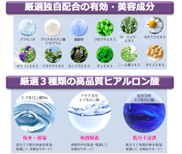 パルクレール美容液の口コミ|美容成分