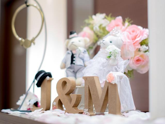 結婚式の受付飾り|イニシャルオブジェ