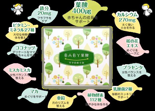 BABY葉酸|その他の豊富な栄養素で忙しいママを徹底ケア!