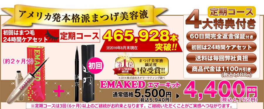エマーキット最安値の販売店は公式サイト!