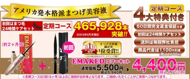 エマーキットがAmazonとほぼ同じ値段で2400円相当のプレゼントがついてくるのは公式サイトだけ!