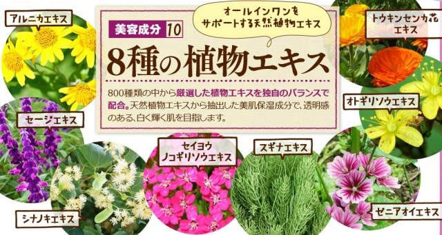 ピュアメイジング|約800種類から厳選した8種類の植物美肌成分
